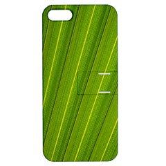 Green Leaf Pattern Plant Apple iPhone 5 Hardshell Case with Stand