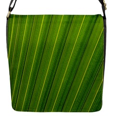 Green Leaf Pattern Plant Flap Messenger Bag (s)