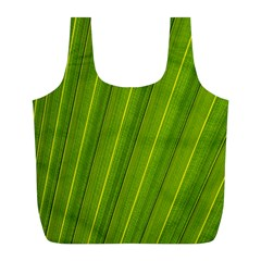 Green Leaf Pattern Plant Full Print Recycle Bags (L)