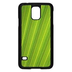 Green Leaf Pattern Plant Samsung Galaxy S5 Case (Black)