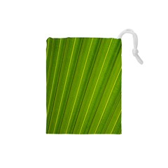 Green Leaf Pattern Plant Drawstring Pouches (Small)