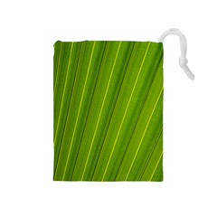 Green Leaf Pattern Plant Drawstring Pouches (medium)