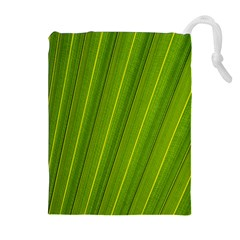 Green Leaf Pattern Plant Drawstring Pouches (extra Large)