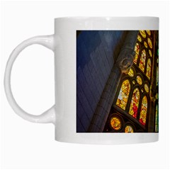 Leopard Barcelona Stained Glass Colorful Glass White Mugs