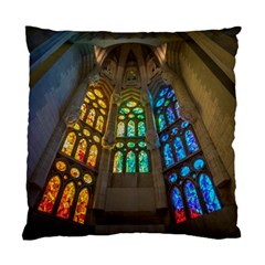 Leopard Barcelona Stained Glass Colorful Glass Standard Cushion Case (Two Sides)