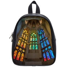 Leopard Barcelona Stained Glass Colorful Glass School Bags (Small)