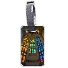 Leopard Barcelona Stained Glass Colorful Glass Luggage Tags (one Side)