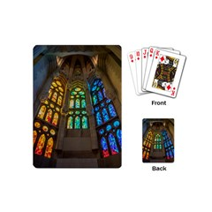 Leopard Barcelona Stained Glass Colorful Glass Playing Cards (Mini)