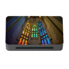 Leopard Barcelona Stained Glass Colorful Glass Memory Card Reader with CF