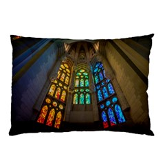 Leopard Barcelona Stained Glass Colorful Glass Pillow Case (two Sides)