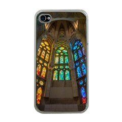Leopard Barcelona Stained Glass Colorful Glass Apple iPhone 4 Case (Clear)
