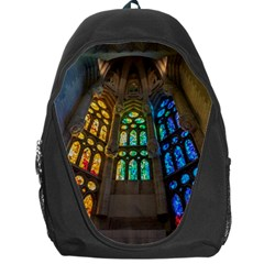 Leopard Barcelona Stained Glass Colorful Glass Backpack Bag