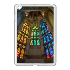 Leopard Barcelona Stained Glass Colorful Glass Apple iPad Mini Case (White)