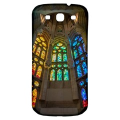 Leopard Barcelona Stained Glass Colorful Glass Samsung Galaxy S3 S Iii Classic Hardshell Back Case