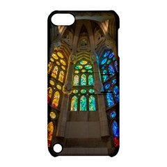 Leopard Barcelona Stained Glass Colorful Glass Apple iPod Touch 5 Hardshell Case with Stand