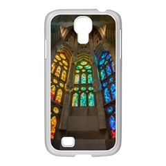 Leopard Barcelona Stained Glass Colorful Glass Samsung GALAXY S4 I9500/ I9505 Case (White)