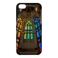 Leopard Barcelona Stained Glass Colorful Glass Apple iPhone 5C Hardshell Case
