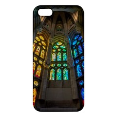 Leopard Barcelona Stained Glass Colorful Glass iPhone 5S/ SE Premium Hardshell Case