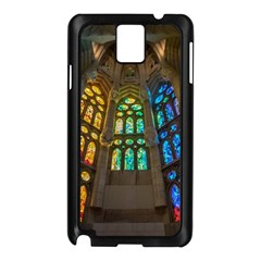 Leopard Barcelona Stained Glass Colorful Glass Samsung Galaxy Note 3 N9005 Case (Black)