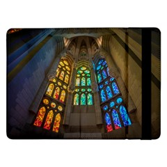Leopard Barcelona Stained Glass Colorful Glass Samsung Galaxy Tab Pro 12 2  Flip Case