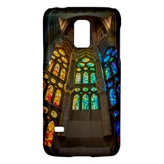 Leopard Barcelona Stained Glass Colorful Glass Galaxy S5 Mini