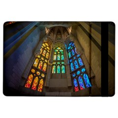 Leopard Barcelona Stained Glass Colorful Glass Ipad Air 2 Flip