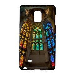 Leopard Barcelona Stained Glass Colorful Glass Galaxy Note Edge