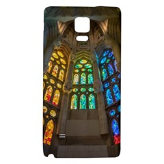 Leopard Barcelona Stained Glass Colorful Glass Galaxy Note 4 Back Case