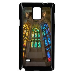 Leopard Barcelona Stained Glass Colorful Glass Samsung Galaxy Note 4 Case (Black)