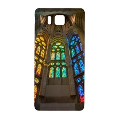 Leopard Barcelona Stained Glass Colorful Glass Samsung Galaxy Alpha Hardshell Back Case