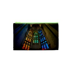 Leopard Barcelona Stained Glass Colorful Glass Cosmetic Bag (XS)