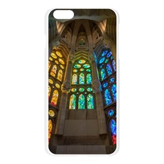Leopard Barcelona Stained Glass Colorful Glass Apple Seamless iPhone 6 Plus/6S Plus Case (Transparent)