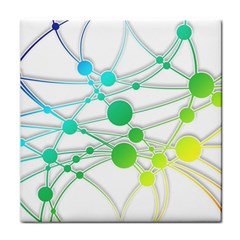 Network Connection Structure Knot Tile Coasters
