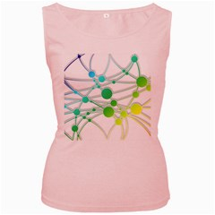 Network Connection Structure Knot Women s Pink Tank Top