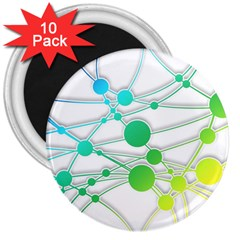 Network Connection Structure Knot 3  Magnets (10 pack)