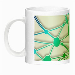 Network Connection Structure Knot Night Luminous Mugs