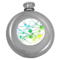 Network Connection Structure Knot Round Hip Flask (5 oz)
