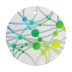 Network Connection Structure Knot Round Ornament (two Sides)