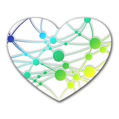 Network Connection Structure Knot Heart Mousepads