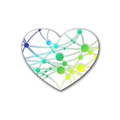 Network Connection Structure Knot Rubber Coaster (heart)