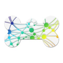 Network Connection Structure Knot Dog Tag Bone (One Side)