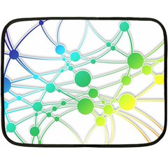 Network Connection Structure Knot Double Sided Fleece Blanket (Mini)