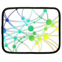 Network Connection Structure Knot Netbook Case (XL)