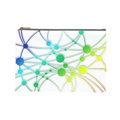 Network Connection Structure Knot Cosmetic Bag (Large)