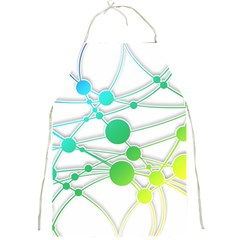 Network Connection Structure Knot Full Print Aprons