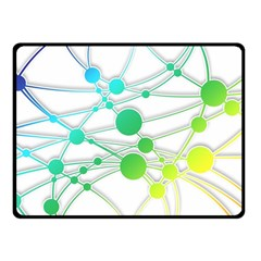 Network Connection Structure Knot Fleece Blanket (Small)