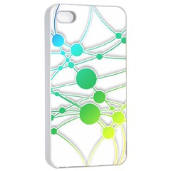 Network Connection Structure Knot Apple Iphone 4/4s Seamless Case (white)