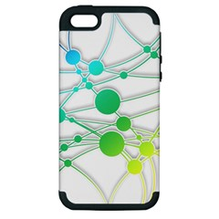 Network Connection Structure Knot Apple iPhone 5 Hardshell Case (PC+Silicone)