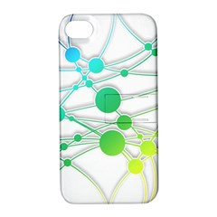 Network Connection Structure Knot Apple Iphone 4/4s Hardshell Case With Stand