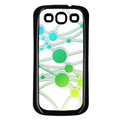 Network Connection Structure Knot Samsung Galaxy S3 Back Case (Black)